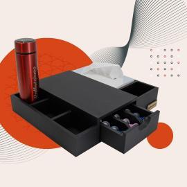 Espresso Box Stand + Kleenex Black