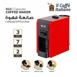 Multi Capsules Coffee Machine - Red color