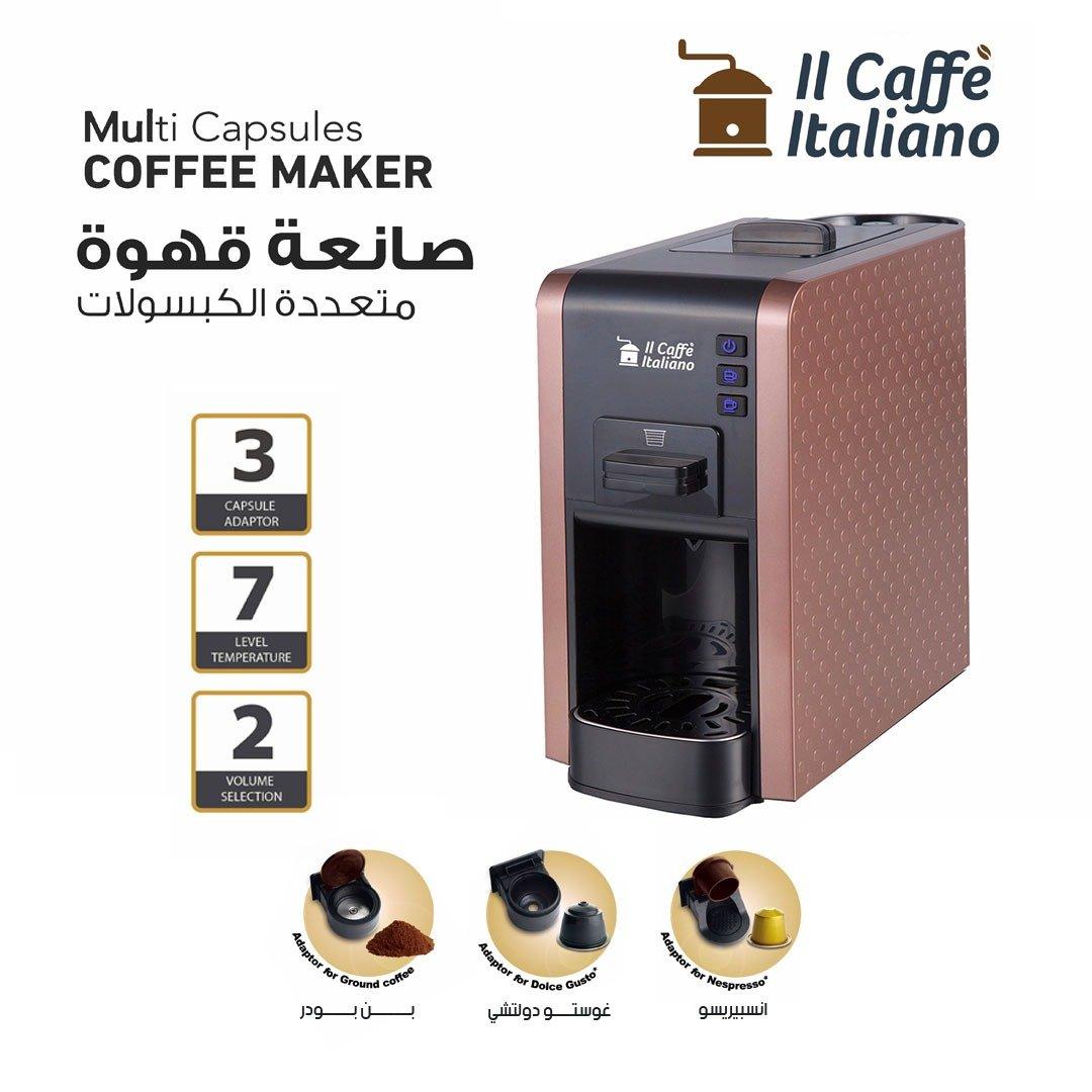 Multi Capsules Coffee Machine - Platinum color