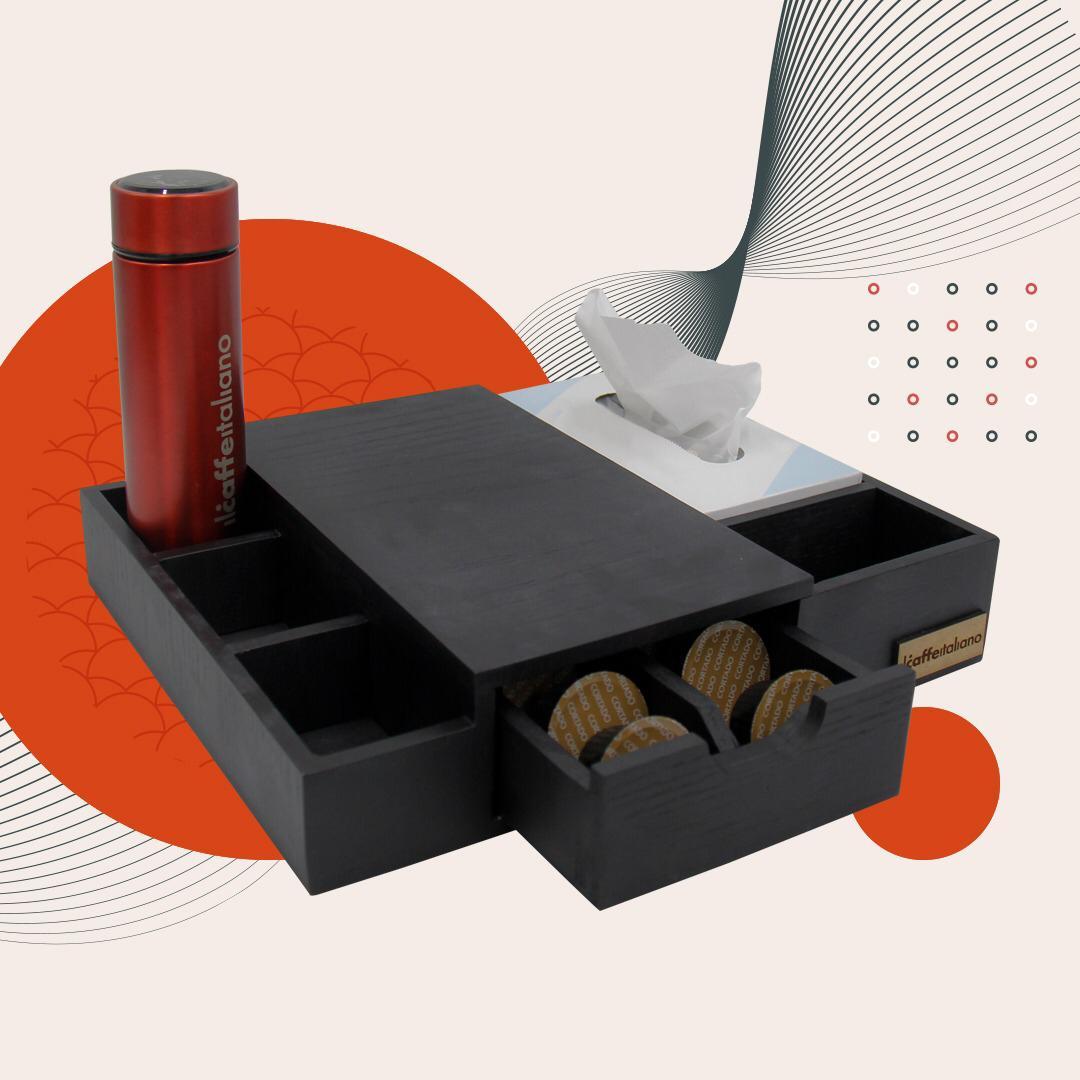 Dolce Box Stand + Black Kleenex
