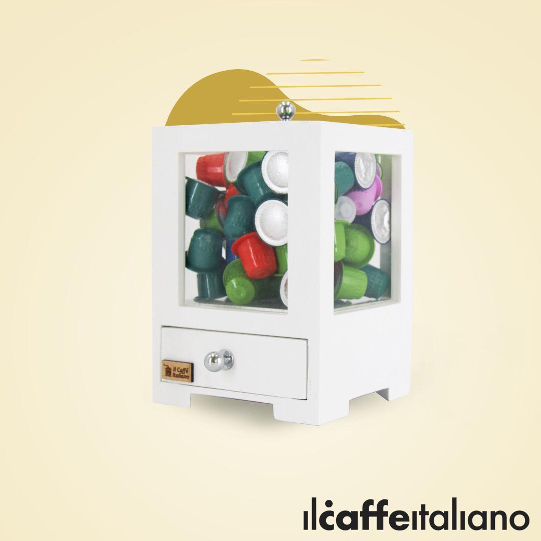Wood & Acrylic Capsule Box (White)
