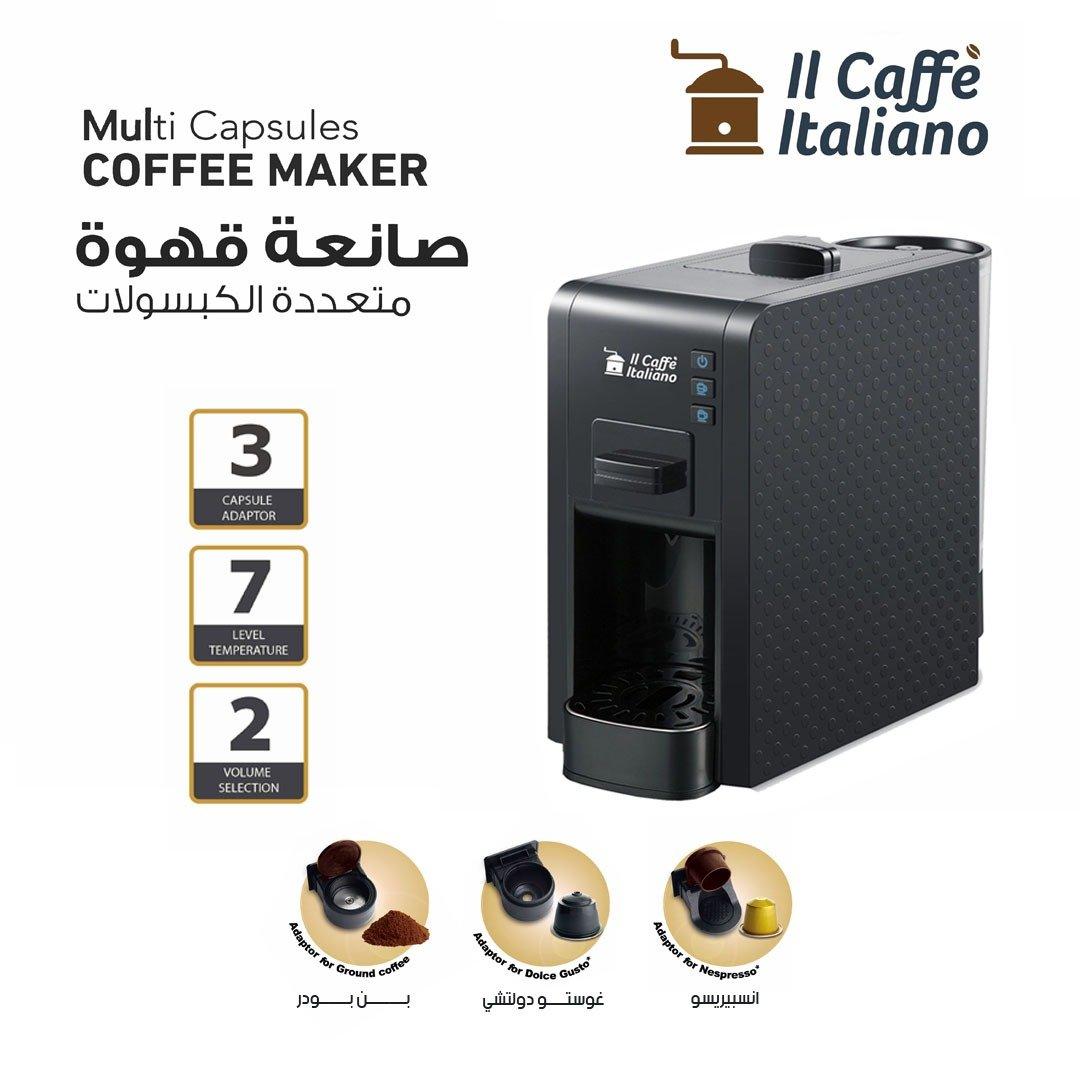 Multi Capsules Coffee Machine - Black color
