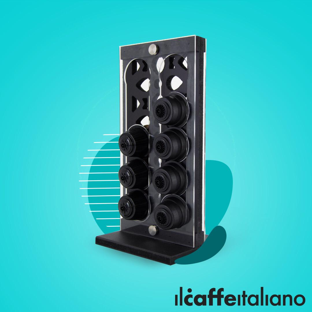 Dolce Decorated Stand  (Black)